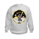 Night Flight/Silver Poodle Kids Sweatshirt