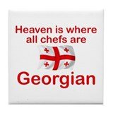 Georgian Chefs Tile Coaster