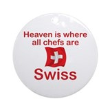 Swiss Chefs Ornament (Round)