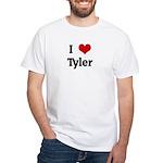 I Love Tyler White T-Shirt
