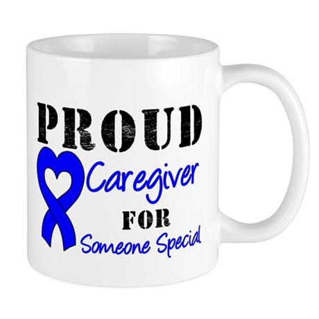 Caregiver Blue Ribbon Mug