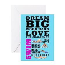 Dream Big Birthday Card Swim (F) #1420