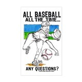 All Baseball Rectangle Decal