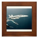 F-18 Hornet Soars Over USS En Framed Tile