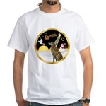 Night Flight/Greyhound (brin) White T-Shirt
