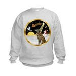 Night Flight/Greyhound (brin) Kids Sweatshirt