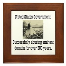 EMINENT DOMAIN ABUSE Framed Tile