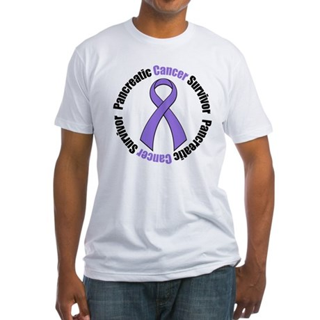 PancreaticCancerSurvivor Fitted T-Shirt