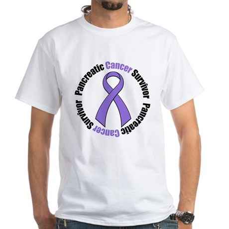 PancreaticCancerSurvivor White T-Shirt