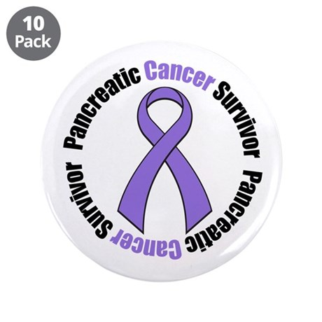 "PancreaticCancerSurvivor 3.5"" Button (10 pack)"