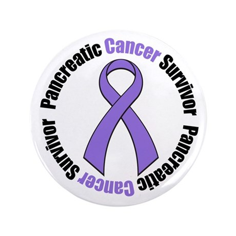 "PancreaticCancerSurvivor 3.5"" Button"