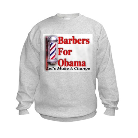 Barbers For Obama Kids Sweatshirt