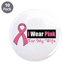 "I Wear Pink 3.5"" Button (10 pack)"