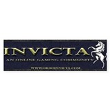Invicta Bumper Car Sticker