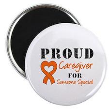 Caregiver Orange Ribbon Magnet