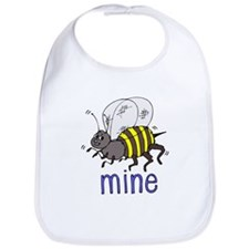 bee mine valentine love gift Bib