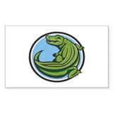 Crocodile Logo Rectangle Decal