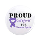 "Caregiver Purple Ribbon 3.5"" Button"
