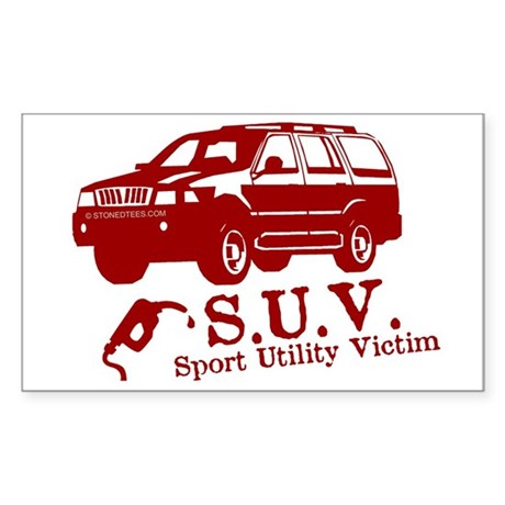 S.U.V. - Sport Utility Victim Sticker (Rectangular