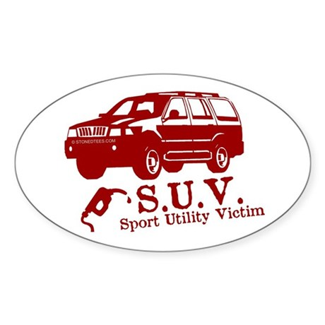 S.U.V. - Sport Utility Victim Oval Sticker