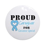 Caregiver Prostate Cancer Ornament (Round)
