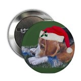 "Beagle Santa 2.25"" Button"