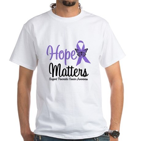 Hope Matters Pancreatic Cancer White T-Shirt
