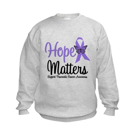 Hope Matters Pancreatic Cancer Kids Sweatshirt