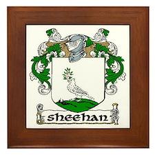 Sheehan Coat of Arms Framed Tile