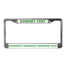 Downey CERT License Plate Frame