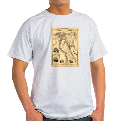 Ancient Egypt Map Light T-Shirt