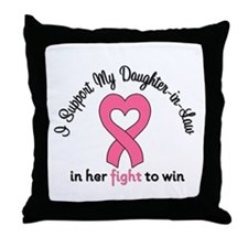 I Support My DIL (BC) Throw Pillow