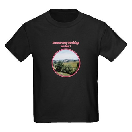 Summertime Birthday Kids Dark T-Shirt