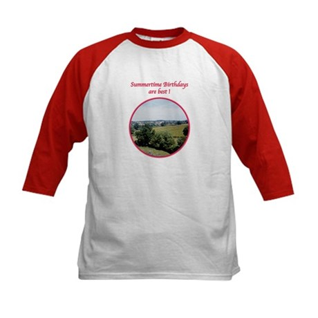 Summertime Birthday Kids Baseball Jersey