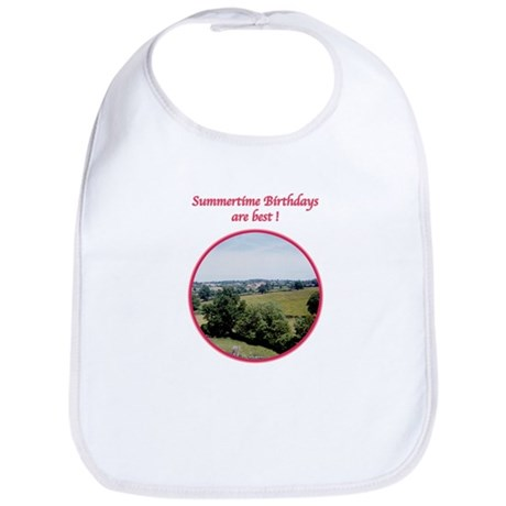 Summertime Birthday Bib
