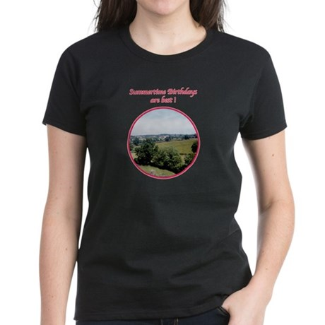 Summertime Birthday Women's Dark T-Shirt