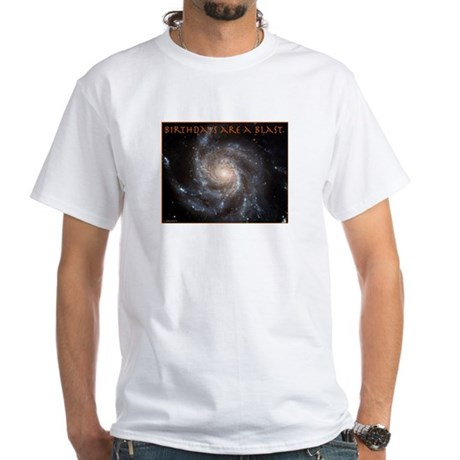 Astronomy Birthday White T-Shirt