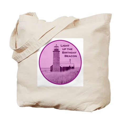 Lighthouse Birthday Tote Bag