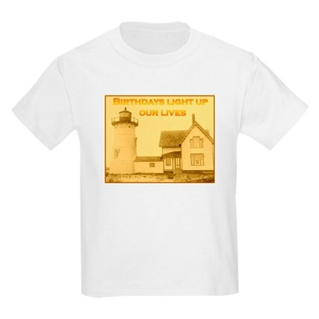 Lighthouse Birthday Kids Light T-Shirt