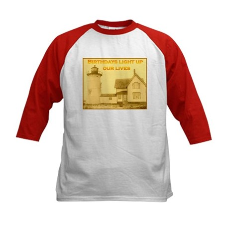 Lighthouse Birthday Kids Baseball Jersey