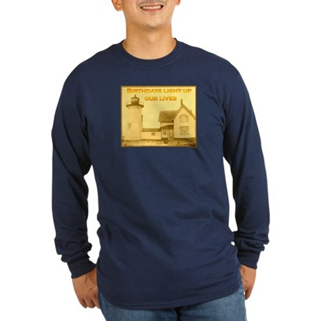 Lighthouse Birthday Long Sleeve Dark T-Shirt