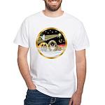 Wisemen/Pekingese White T-Shirt
