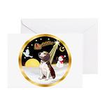 Night Flight/Beagle #2 Greeting Cards (Pk of 10)