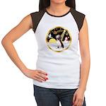 Night Flight/Beagle #2 Women's Cap Sleeve T-Shirt