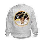 Night Flight/Dachshund #11 Kids Sweatshirt
