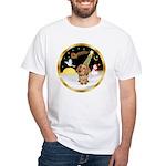 Night Flight/Dachshund #11 White T-Shirt