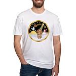 Night Flight/Dachshund #11 Fitted T-Shirt