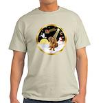 Night Flight/Dachshund #13 Light T-Shirt