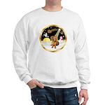 Night Flight/Dachshund #13 Sweatshirt
