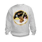 Night Flight/Dachshund #13 Kids Sweatshirt